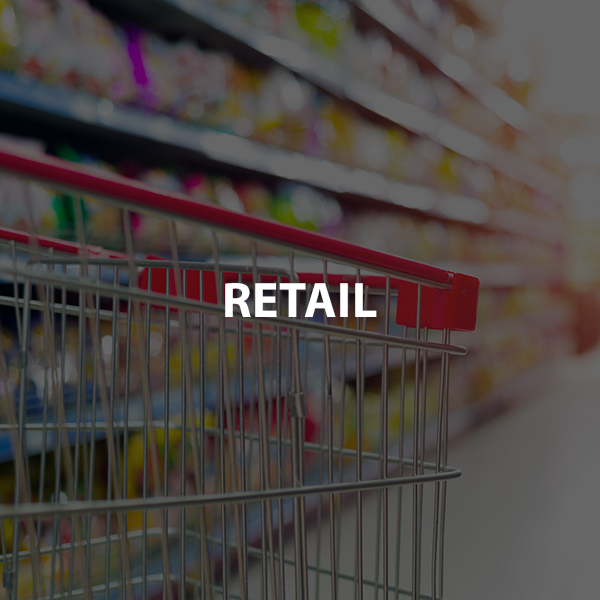 Retail Shopping Cart with text overlay