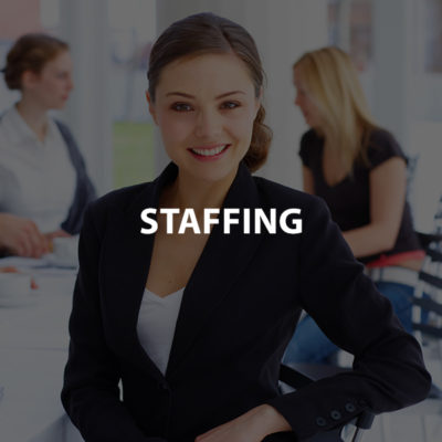 Staffing Company with text overlay